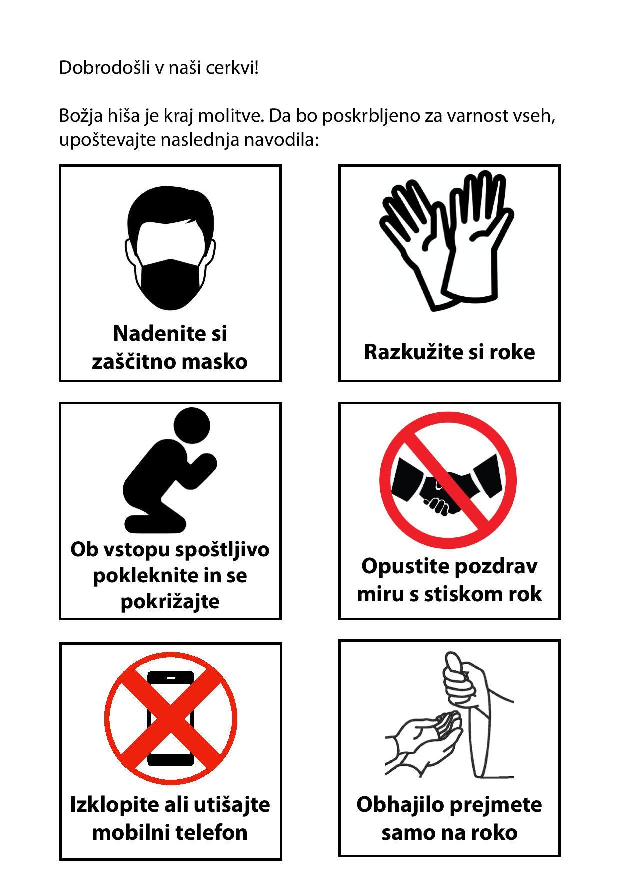 Pravila obnašanja v cerkvi