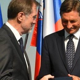 Lojze Peterle in Boru Pahor (photo: STA/Urad predsednika republike)