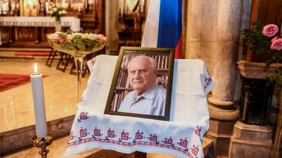 Sveta maša za pokojnega Marka Kremžarja je bila v cerkvi Srca Jezusovega na Taboru v Ljubljani (photo: Rok Mihevc)